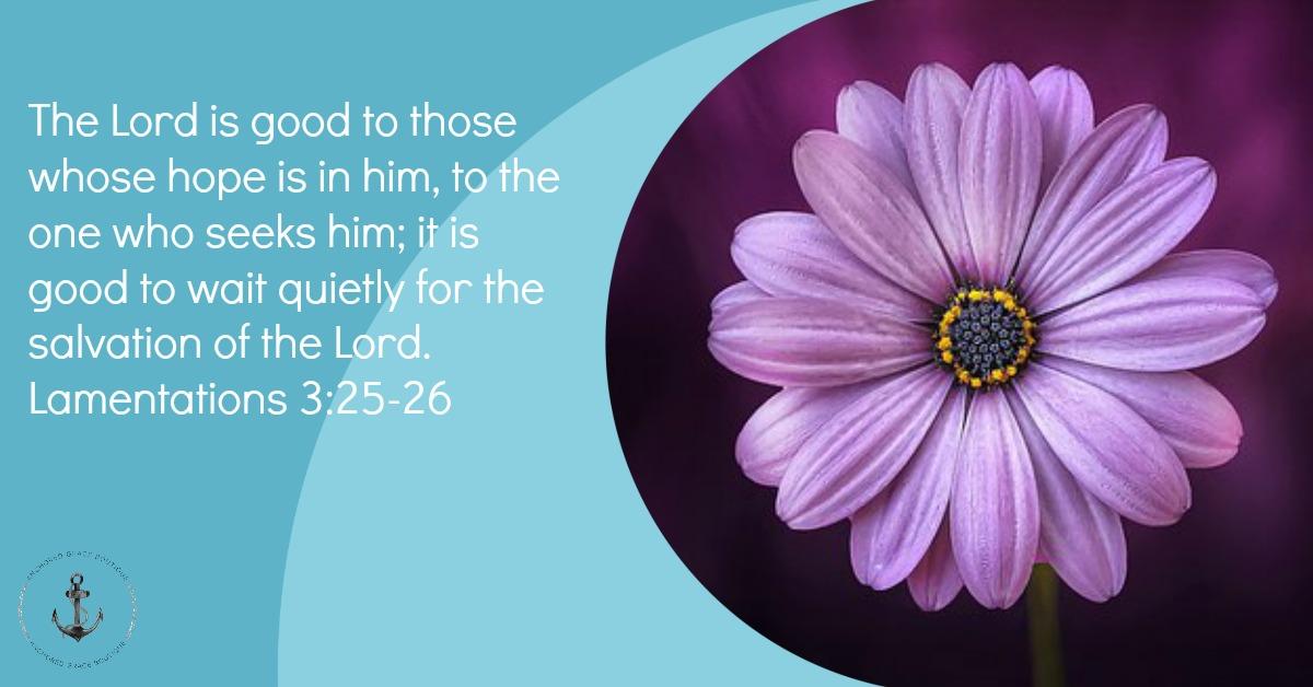Lamentations 3:25-26