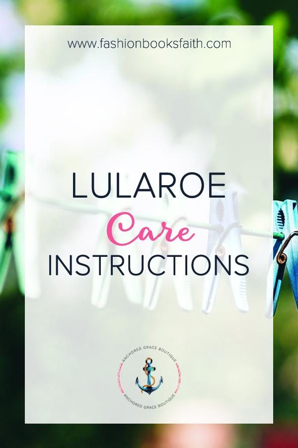 LuLaRoe Care Instructions